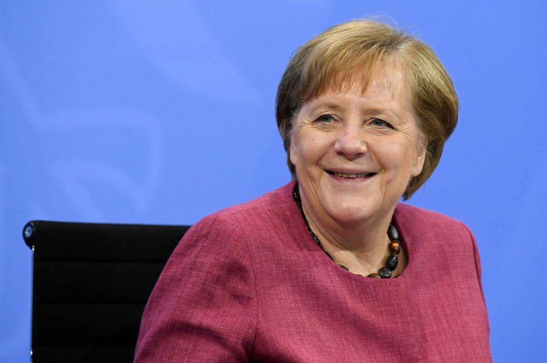 Online-Treffen von Kanzlerin Merkel und DFB-Team
