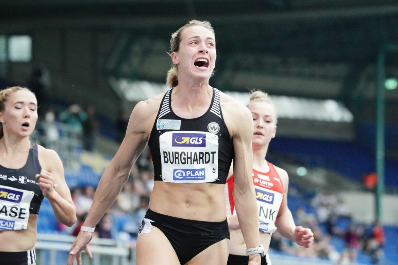 Alexandra Burghardt jubelt über Titel und Olympia-Norm