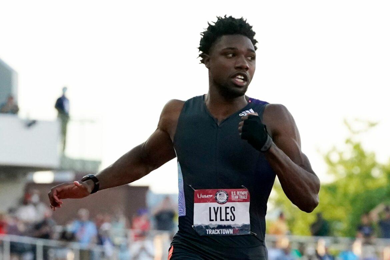 200-Meter-Weltmeister Lyles demonstriert bei Olympia-Quali