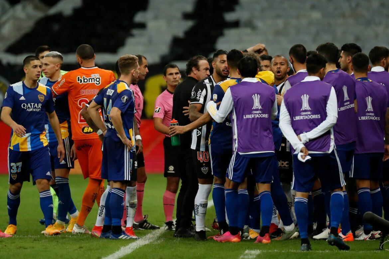Pfefferspray-Auseinandersetzung nach Aus der Boca Juniors