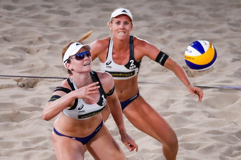 Karla Borger und Julia Sude bei EM im Halbfinale
