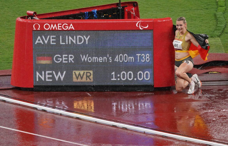 Sprinterin LindyAve holtGold mitWeltrekord
