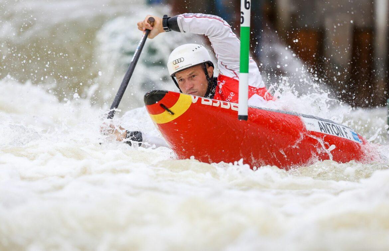Wildwasser-Kanute Anton Dritter in La Seu