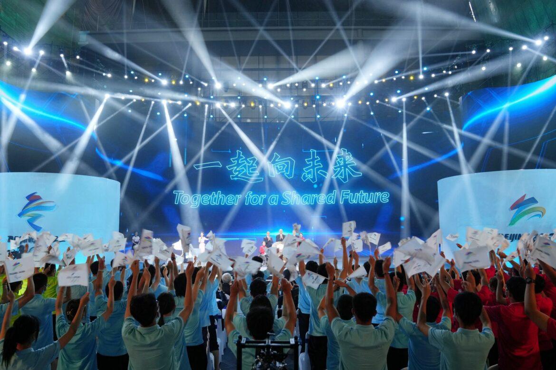 China stellt offiziellen Slogan für Winterspiele vor