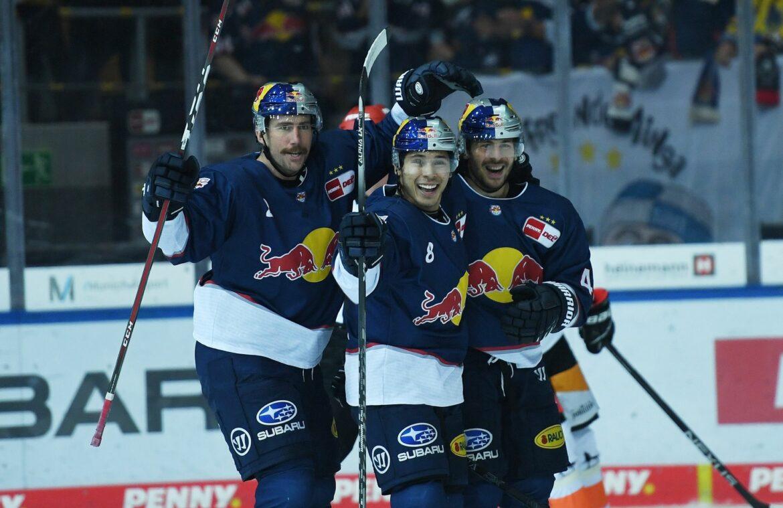 Red Bull München nach Sieg gegen EV Zug im Achtelfinale