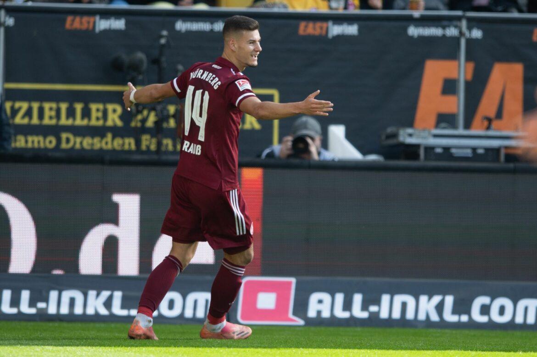 1. FC Nürnberg bleibt unbezwungen: Sieg bei Dynamo Dresden